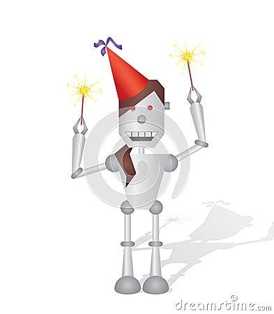 Celebrating robot