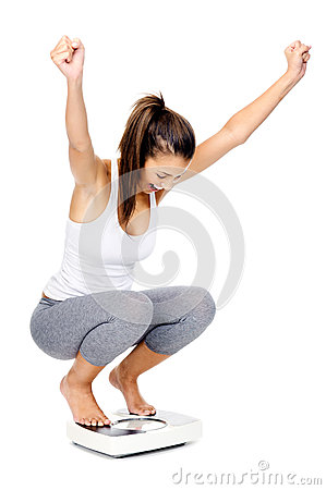 Free Celebrating Scale Woman Stock Photography - 26861462