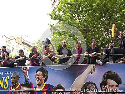 Celebrating the UEFA champions league