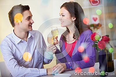 Celebrating Valentine day