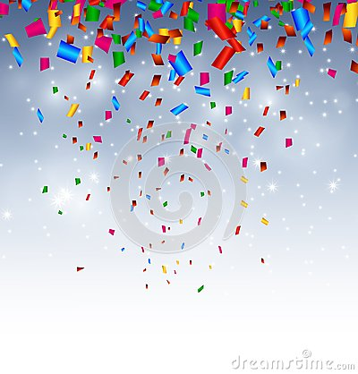 Free Celebration Background With Confetti In The Sky Royalty Free Stock Images - 46463799