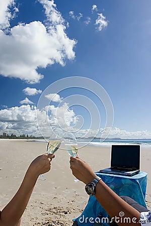 Celebration on the beach