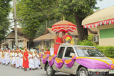 Celebration of Buddhist Novice Editorial Photo