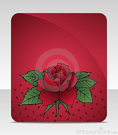 Celebration card with rose