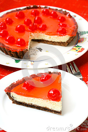 Celebration Cherry cheesecake dessert