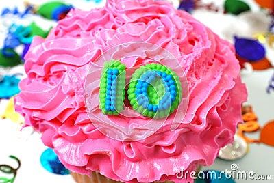 Celebration Cupcake - Number 10