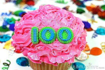 Celebration Cupcake - Number 100