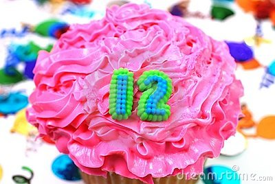 Celebration Cupcake  -  Number 12