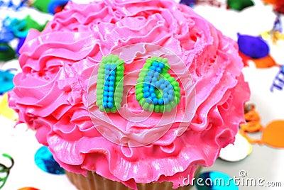 Celebration Cupcake - Number 16