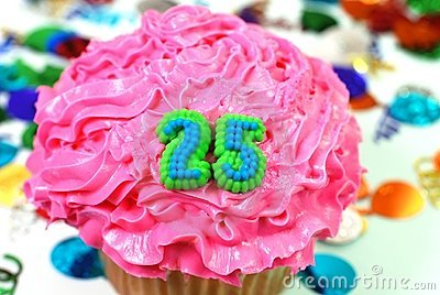 Celebration Cupcake - Number 25