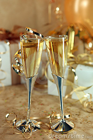 Celebration of an Event With Champagne Glasses and