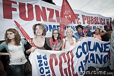 Celebration of festivity of republic in Milan Editorial Photo
