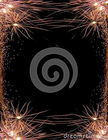 Celebration firework frame