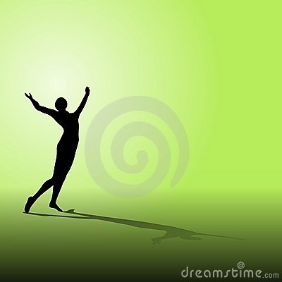 Free Celebration Fitness Silhouette Royalty Free Stock Photography - 5354887