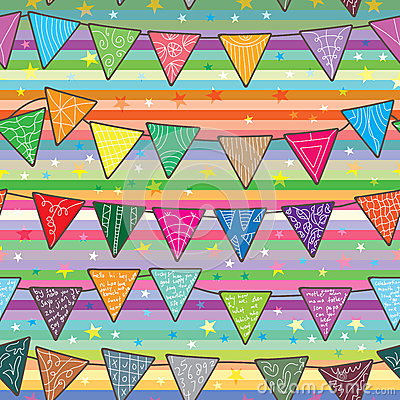 Celebration Flag Seamless Pattern_eps