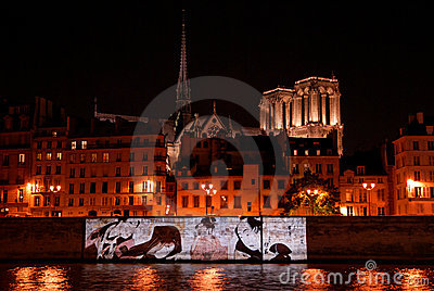 Celebration of French-Japanese friendship Editorial Stock Image