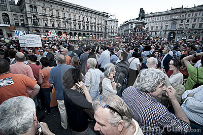 Celebration giuliano pisapia election may, 30 2011 Editorial Stock Image