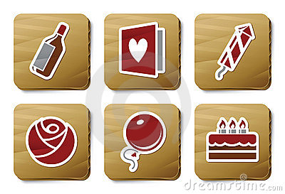 Celebration icons | Cardboard series