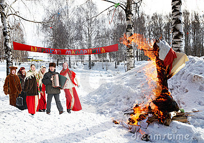 Celebration of Shrovetide Editorial Photo