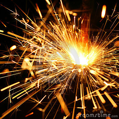 Free Celebration Sparklers Royalty Free Stock Photo - 5681715
