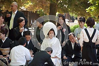Celebration of a traditional Japanese wedding Editorial Image