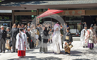 Celebration of a traditional Japanese wedding Editorial Photo