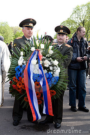 Celebration of Victory Day (Eastern Europe) in Rig Editorial Stock Photo