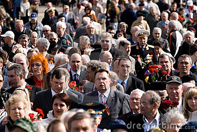 Celebration of Victory Day (Eastern Europe) in Rig Editorial Photo