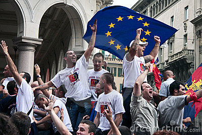 Celebrations in Genoa Editorial Photography