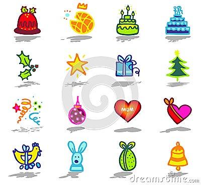 celebrations icons set 1