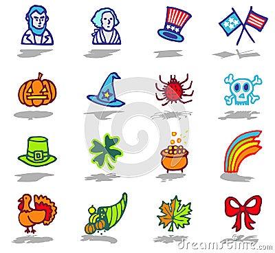 Celebrations icons set 2