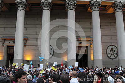 Buenos Aires Pope Celebrations Editorial Stock Photo