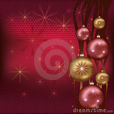 Celebratory Christmas background red
