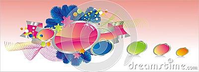 Celebratory colour decoration frame