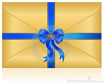 Celebratory envelope with bow