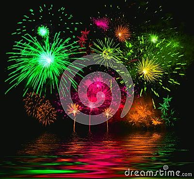 Free Celebratory Firework. Illustration Stock Photo - 1619690