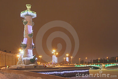 Celebratory illumination of Rostral column