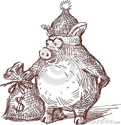 Celebratory piglet