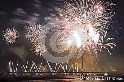 Celebratory salute in Riga