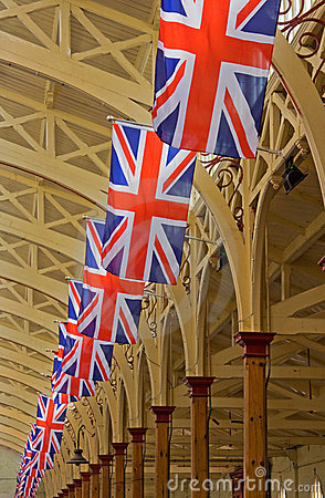 Celebratory Union Flags Editorial Stock Image