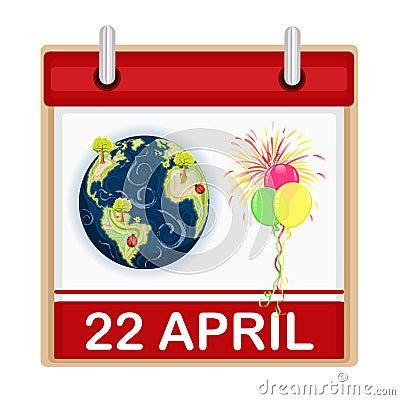 Celebrazione di giorno di terra