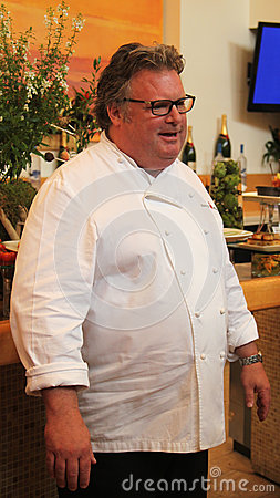Celebrity chef David Burke during US Open food tasting preview Editorial Stock Photo
