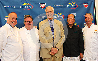 Celebrity chefs David Burke, Tony Mantuano , Masah Editorial Image