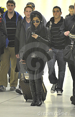 Celebrity Kim Kardashian at LAX airport Editorial Photography