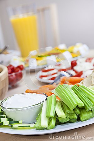 Celery Cucumber Dips Vegetables Healthy Food