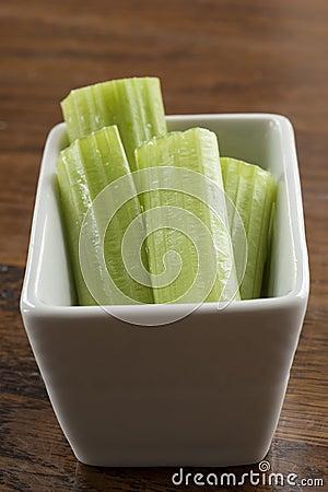 Free Celery Stalks In A White Bowl Stock Image - 28473831
