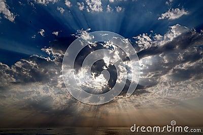 Celestial sunbeams