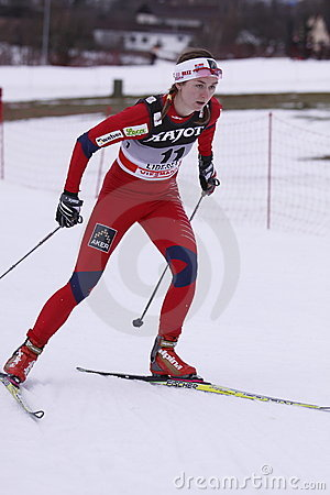 Celine Brun-li - cross country skier Editorial Stock Photo