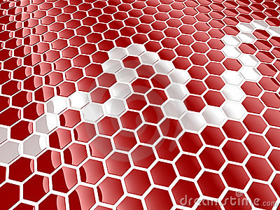 Cell hexagon background