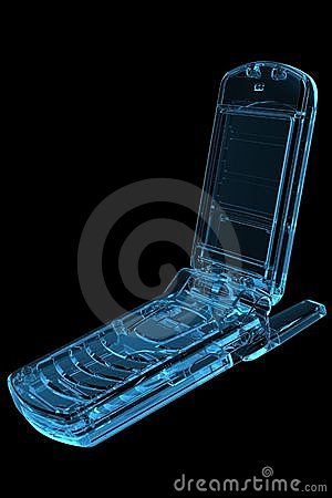 Cell Phone 3D X-Ray Blue